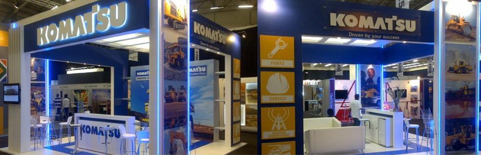 Komatsu show stand