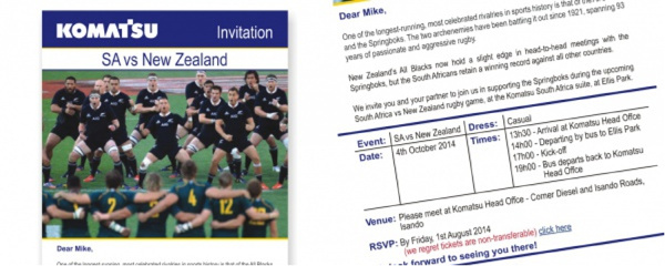 rugby invitation