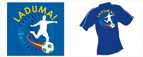 Soccer World Cup logo and T-shirt application
