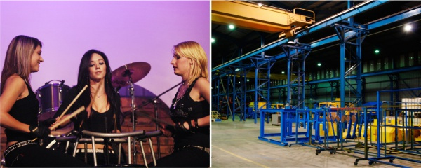 factory opening and entertainment