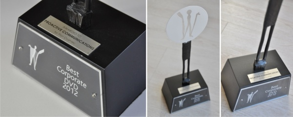 awarded best corporate DVD production 2012