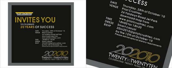 20 year event invitation