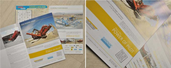 Single page print ad campaign