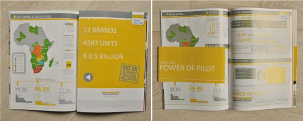 three page fold out print ad campaign