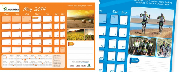 annual desk planner design and print
